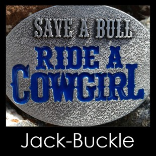 Buckle Ride a Cowgirl Western Country G�rtelschnalle Blue