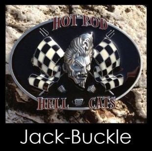 Gürtelschnalle (Buckle) Hot rod hell cats Flagge Joker Racing Sp
