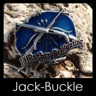 G�rtelschnalle (Buckle) I´d Rather Be Hunting - J�ger Gewe
