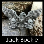 Buckle - Bad To The Bone - Skull Adler Biker