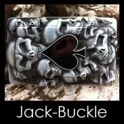 Buckle - Pik AS Gambles Skull Biker Ride Spieler