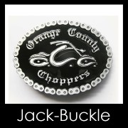 Buckle G�rtelschnalle Biker Orange County Harley